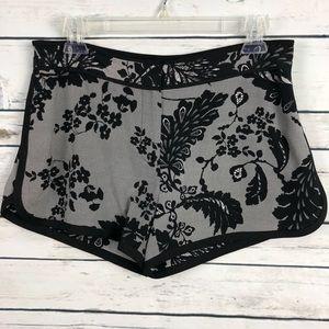 NWT Diane Von Furstenberg 2 Black Lace Shorts